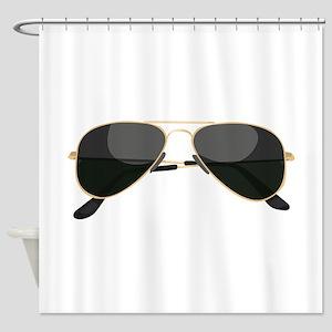 Sun Glasses Shower Curtain