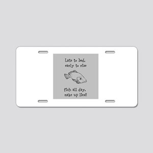 Fish All Day!! Aluminum License Plate
