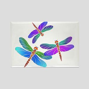 Dive Bombing Iridescent Dragonflies Magnets
