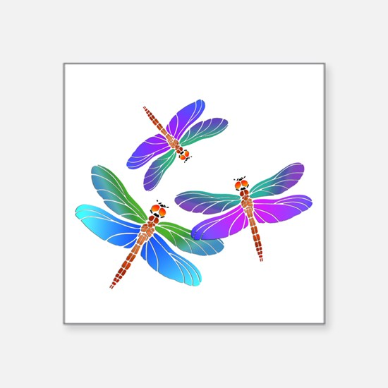 Dive Bombing Iridescent Dragonflies Sticker
