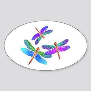 Dive Bombing Iridescent Dragonflies Sticker