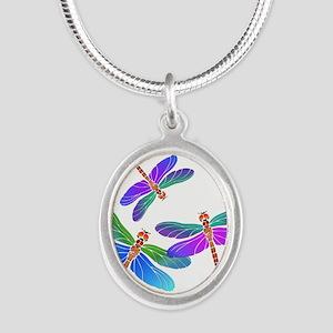 Dive Bombing Iridescent Dragonflies Necklaces