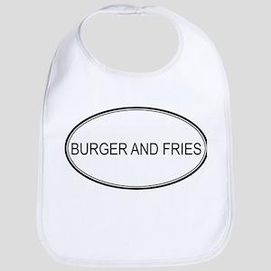 BURGER AND FRIES (oval) Bib