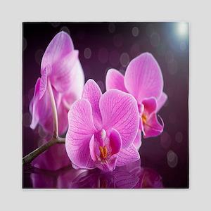 Pink Orchids Queen Duvet