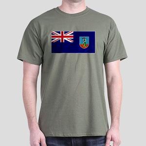 Flag Montserrat Dark T-Shirt