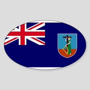 Flag Montserrat Oval Sticker