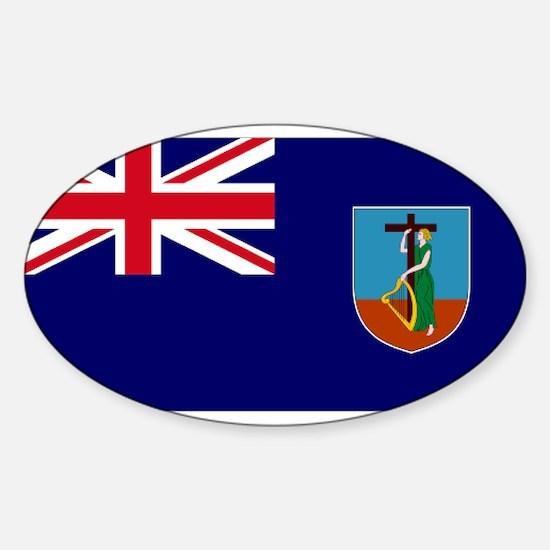 Flag Montserrat Oval Decal