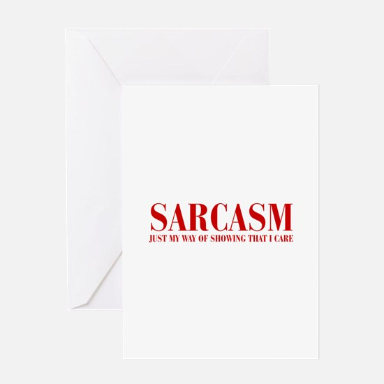 SARCASM-JUST-MY-WAY-BOD-RED Greeting Cards