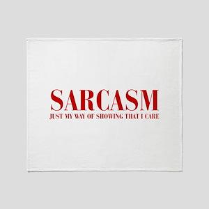 SARCASM-JUST-MY-WAY-BOD-RED Throw Blanket