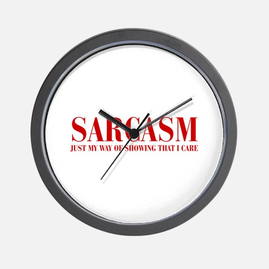 SARCASM-JUST-MY-WAY-BOD-RED Wall Clock