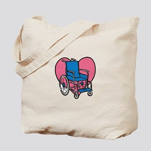 Heart Wheelchair Tote Bag