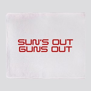 SUNS-OUT-GUNS-OUT-SAV-RED Throw Blanket