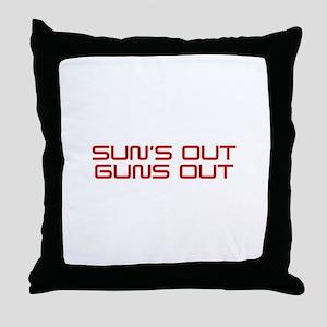 SUNS-OUT-GUNS-OUT-SAV-RED Throw Pillow