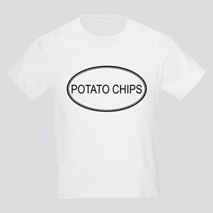 POTATO CHIPS (oval) Kids Light T-Shirt