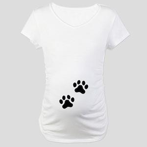Pawprints Maternity T-Shirt