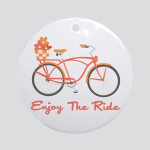 Enjoy The Ride Ornament (Round)