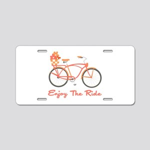 Enjoy The Ride Aluminum License Plate