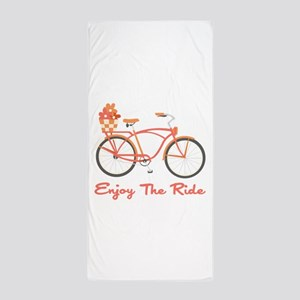 Enjoy The Ride Beach Towel