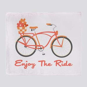 Enjoy The Ride Throw Blanket