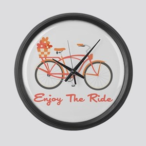 Enjoy The Ride Large Wall Clock