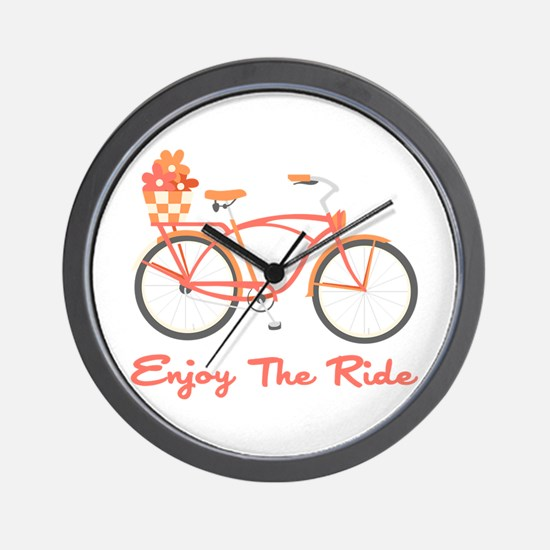 Enjoy The Ride Wall Clock
