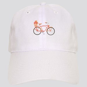 Pink Cruiser Bike Baseball Cap