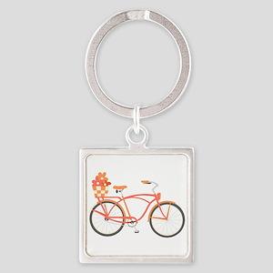 Pink Cruiser Bike Keychains