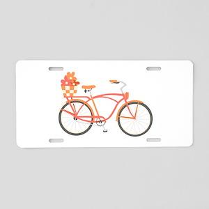 Pink Cruiser Bike Aluminum License Plate