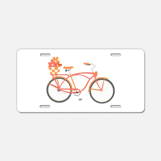 Pink Cruiser Bike Aluminum License Plate