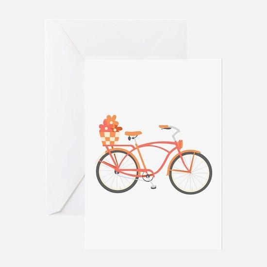 Pink Cruiser Bike Greeting Cards