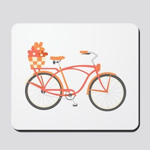 Pink Cruiser Bike Mousepad