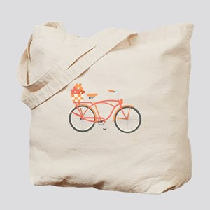Pink Cruiser Bike Tote Bag
