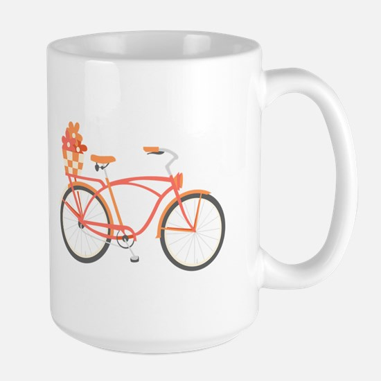 Pink Cruiser Bike Mugs