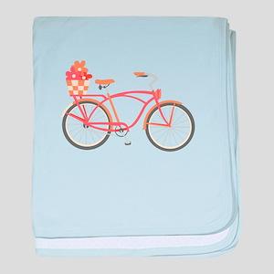 Pink Cruiser Bike baby blanket