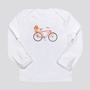 Pink Cruiser Bike Long Sleeve T-Shirt