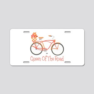 Queen Of The Road Aluminum License Plate