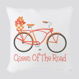 Queen Of The Road Woven Throw Pillow