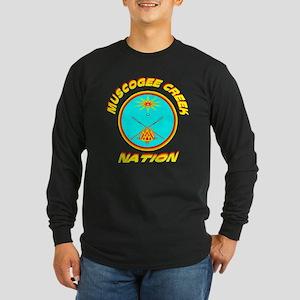 MUSCOGEE CREEK NATION Long Sleeve Dark T-Shirt