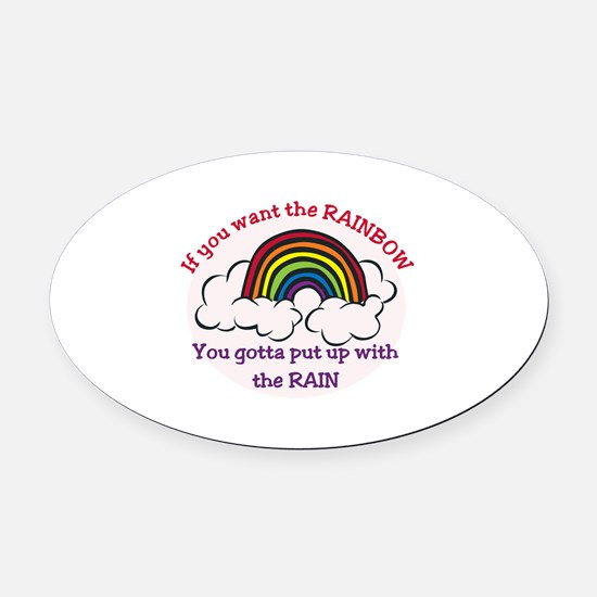 Want the Rainbow Oval Car Magnet