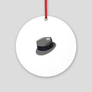 Mans Hat Ornament (Round)