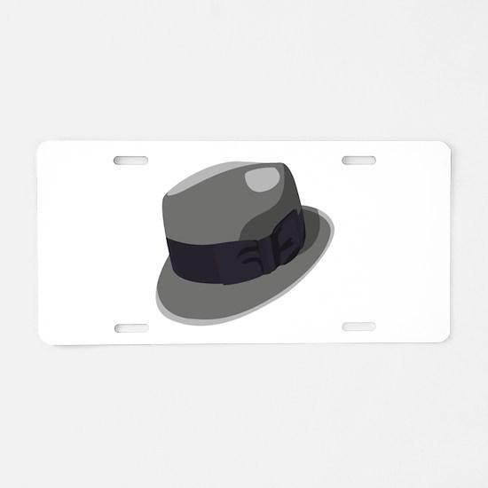 Mans Hat Aluminum License Plate