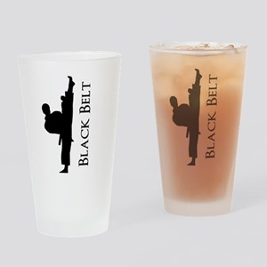 Black Belt Personalized Drinking Glass
