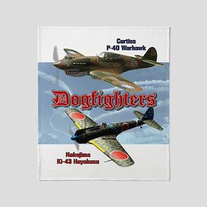 Dogfighters: P-40 vs Ki-43 Throw Blanket