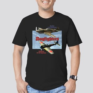 Dogfighters: P-40 vs K Men's Fitted T-Shirt (dark)