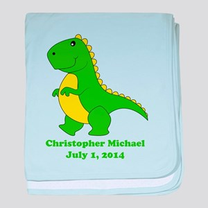 Dinosaur (green) Baby Blanket