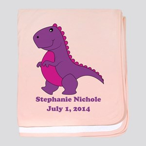 Dinosaur (purple) Baby Blanket