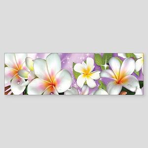Plumeria Floral Bumper Sticker
