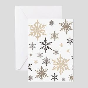 modern vintage snowflakes Greeting Cards
