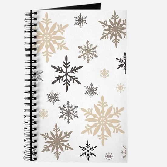 modern vintage snowflakes Journal