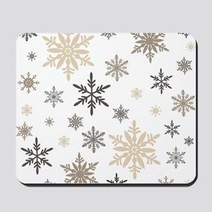 modern vintage snowflakes Mousepad